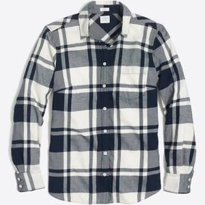 J. Crew Plain Flannel shirt Navy Small